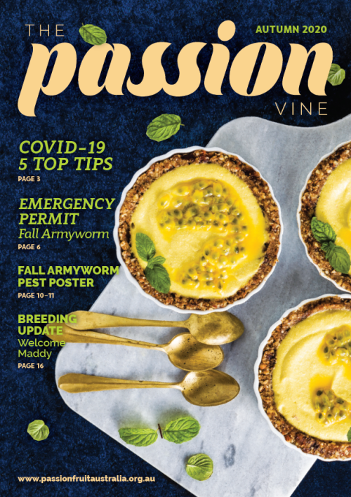 Picture of the front cover of The Passion Vine Autumn 2020